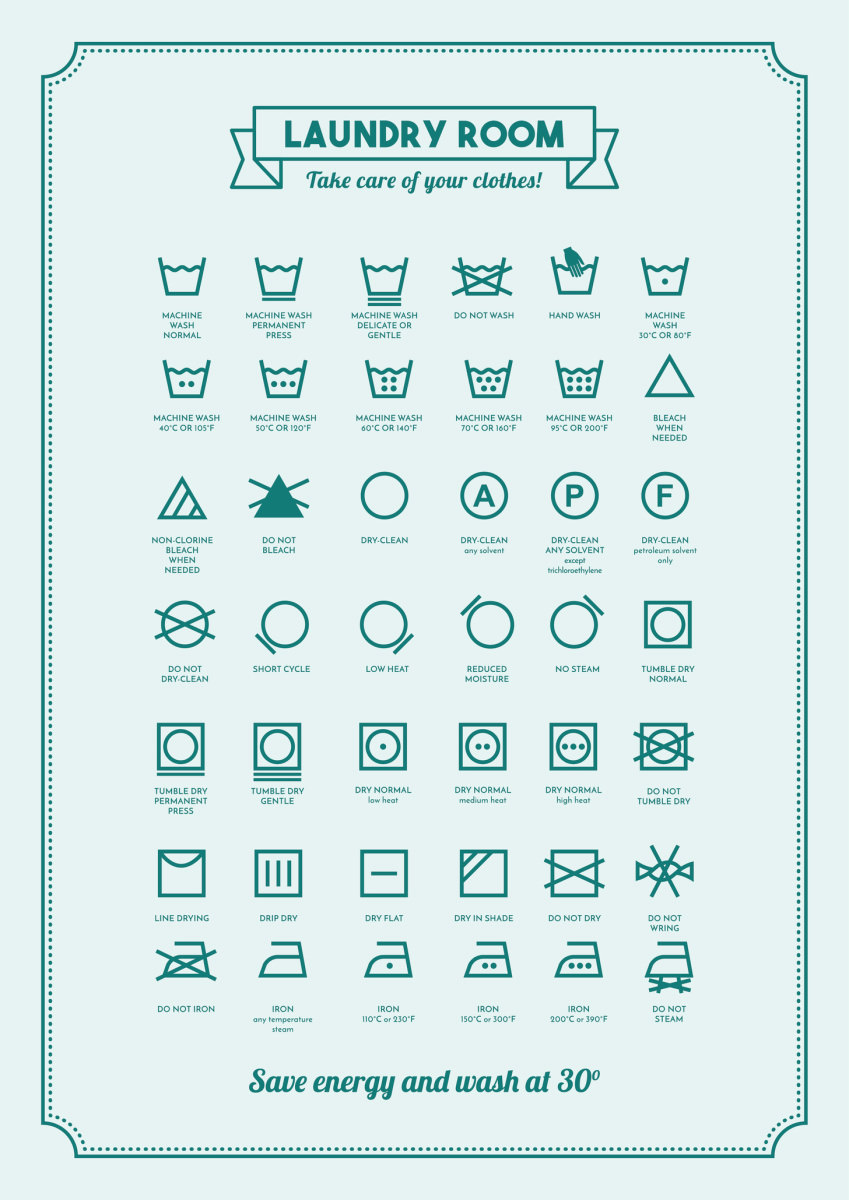 Know Your Laundry Symbols A Circle Usually Means Dry Clean Only And May Have Additional Modifiers On It