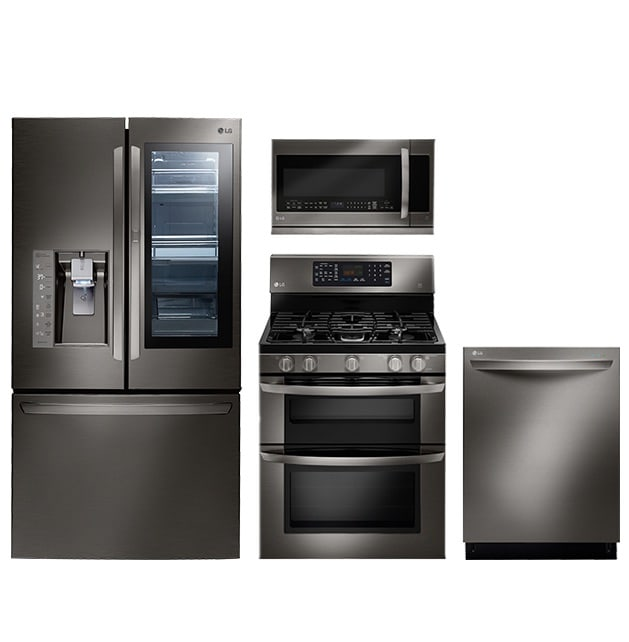 A black stainless suite from LG