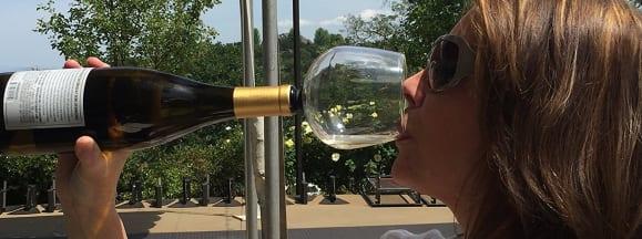 Brunette wine hero