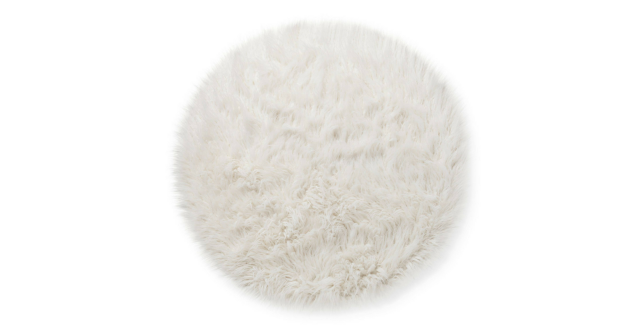 White furry rug
