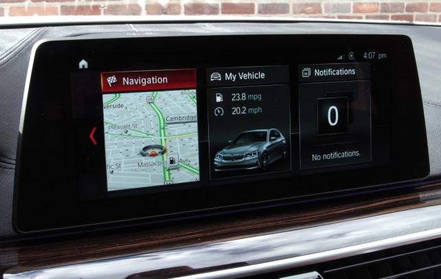 BMW 530i iDrive touchscreen