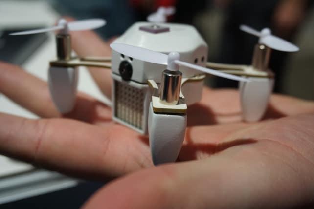 White Zano drone