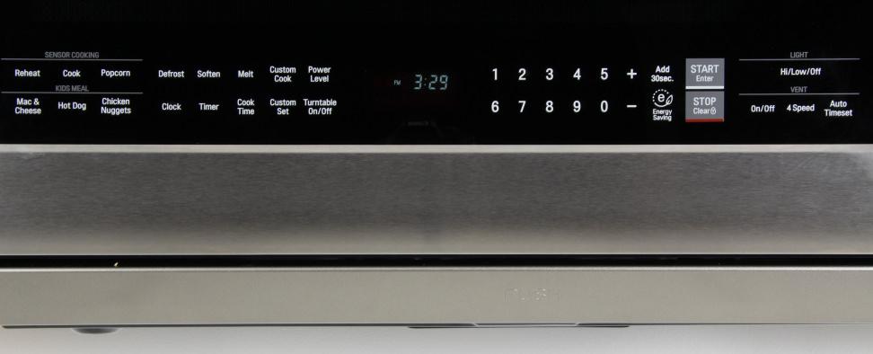 LG LMHM2237ST Controls