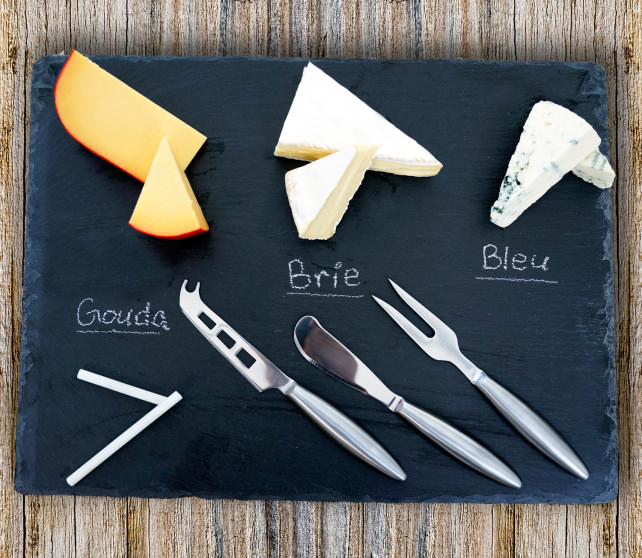 Misc Home Slate Cheese Board Set