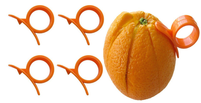 4 Round Orange (Citrus Fruit) Peelers by Chef Craft