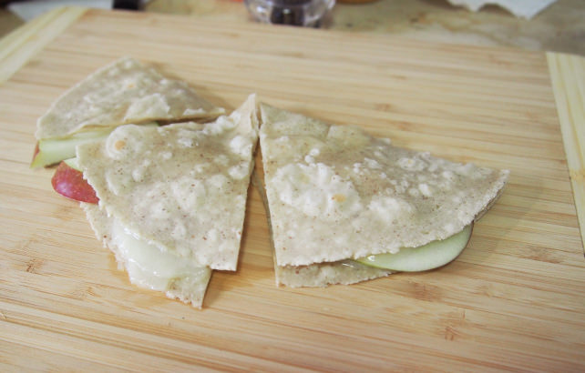 Apple cheese tortilla