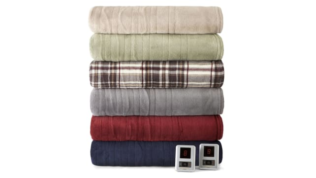 Biddeford Plush Heated Blanket