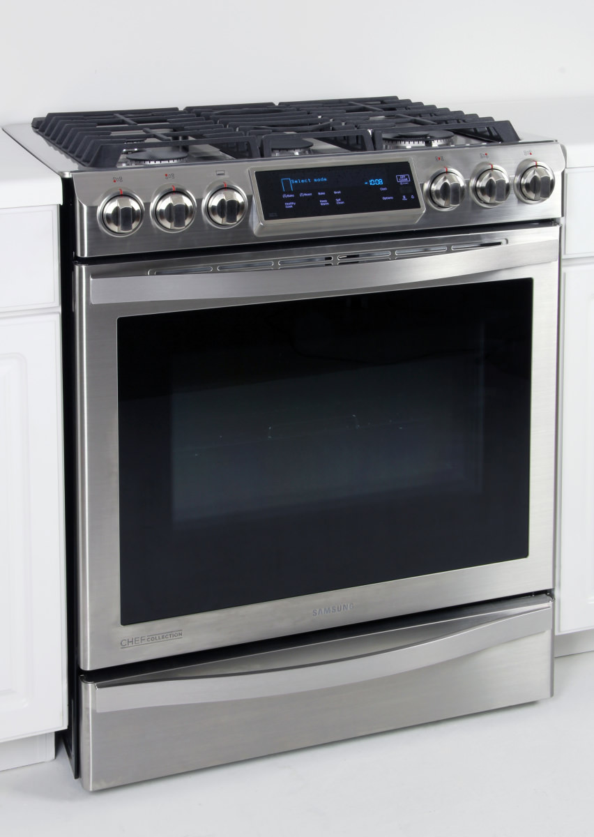 Gas Range With Gas Oven Samsung Chef Collection Nx58h9950ws Slide In Gas Range Review