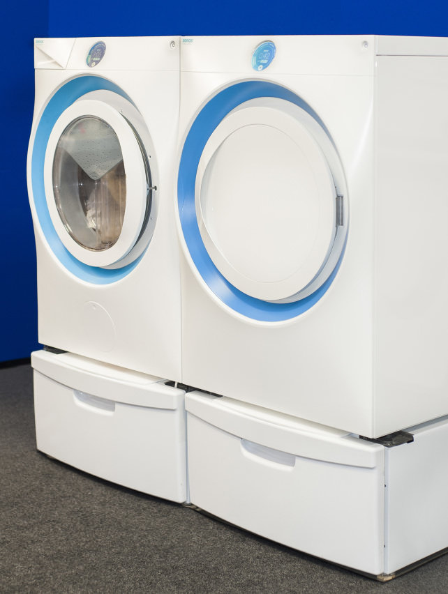 Xeros prototype washing machine