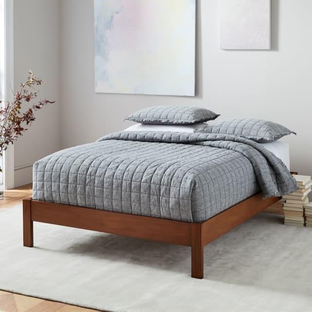 Simple Bedframe. Credit: West Elm