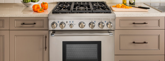 Thermador five burner pro harmony range hero