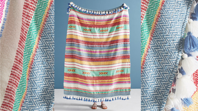 Anthropologie Woven Throw