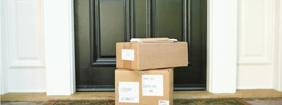 Packages on a front porch