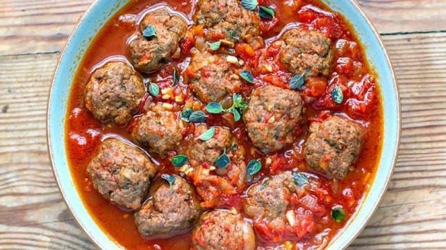 Instant Pot Italian Tomato Meatballs