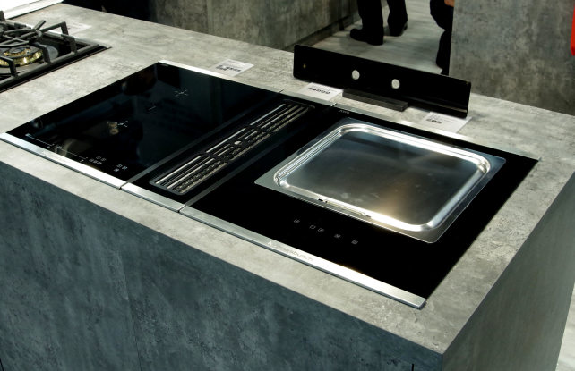 The next big trend in kitchen design downdraft for Kitchen range with downdraft ventilation