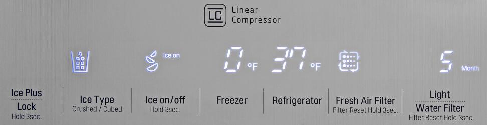 LG LSC22991ST Controls